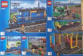 INS60052 60052 BOUWBESCHRIJVING- Cargo Train NIEUW *
