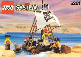 INS6261-G 6261 BOUWBESCHRIJVING- Raft Raiders gebruikt *