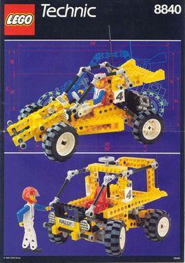 INS8840-G 8840 BOUWBESCHRIJVING- Rally Shock n'Roll Racer gebruikt *