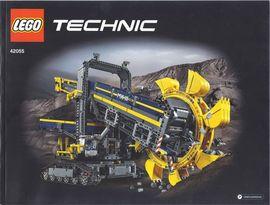 Set 42055 BOUWBESCHRIJVING- Bucket Wheel Excavator Technic gebruikt loc