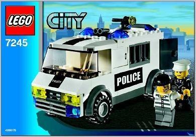 Set 7245 BOUWBESCHRIJVING- Prisoner Transport Belville gebruikt loc