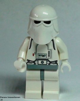 sw115 Star Wars:Snowtrooper, Light Bluish Gray Hips, witte Hands NIEUW loc
