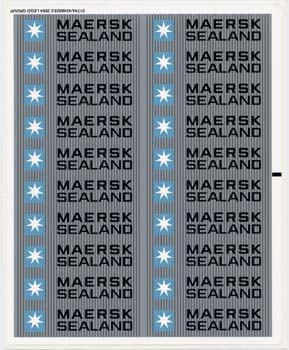 10152stk02 STICKER: Maersk schip NIEUW loc