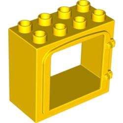2332-3G Deurframe vlak met 2 clips geel gebruikt *