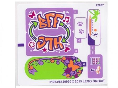 41099stk01 STICKER 41099 FRIENDS Heartlake Skate Park NIEUW *0S0000