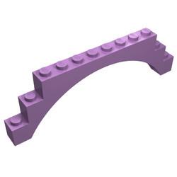 6108-157 Steen, boog 1x12x3 lavender, midden NIEUW *