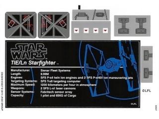 75095stk01 STICKER 75095 TIE Fighter UCS NIEUW *0S0000