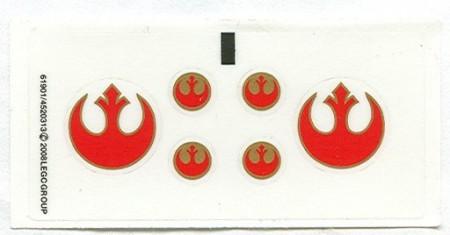 7668stk01 STICKER STAR WARS Rebel Scout Speeder NIEUW *0S0000