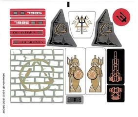7985stk01 STICKER City of Atlantis NIEUW *0S0000