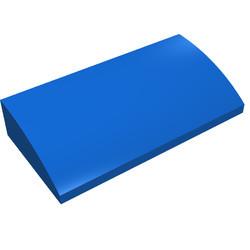 88930-7G Dakpan gebogen 2x4x2/3 geen noppen, MET bodemtubes blauw gebruikt *1R028