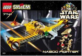 INS7141-G 7141 BOUWBESCHRIJVING- Naboo Fighter gebruikt *