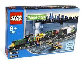 Set 4512 - Treinen: Cardo Train (9V trafo) Diu 1 zijde verkleurd, verzegeld - Nieuw