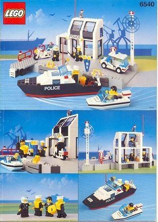 Set 6540 BOUWBESCHRIJVING- Pier Police gebruikt loc