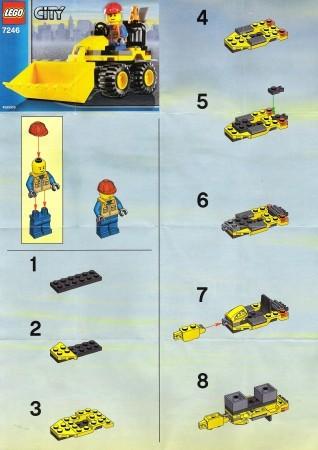Set 7246 BOUWBESCHRIJVING- Mini Digger Belville gebruikt loc