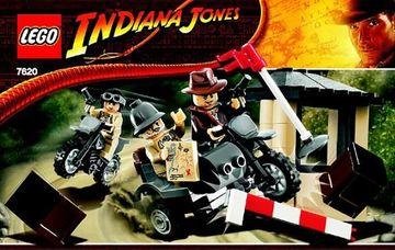 Set 7620-G - Indiana Jones: Indiana Jones Motorcycle Chase D/H/C 97-100%- Gebruikt