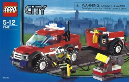Set 7942 BOUWBESCHRIJVING- Off Road Fire Rescue gebruikt loc