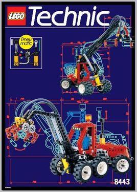 Set 8443 BOUWBESCHRIJVING- Pneumatic Log Loader Technic gebruikt loc