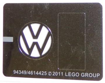 10220stk02 STICKER VW Bus VW symbool NIEUW loc