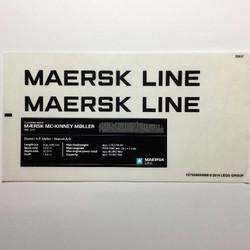10241stk01 STICKER Maersk Line Triple-E sheet 1 NIEUW *0S0000