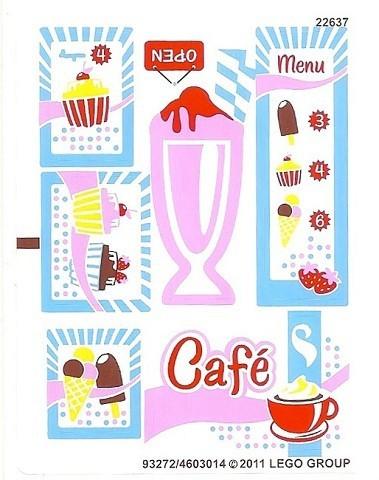 3061stk01 STICKER Friends City Park Café NIEUW *0S0000