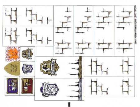 4842stk01 STICKER Harry Potter- Hogwarts Casle (4th edition) NIEUW loc
