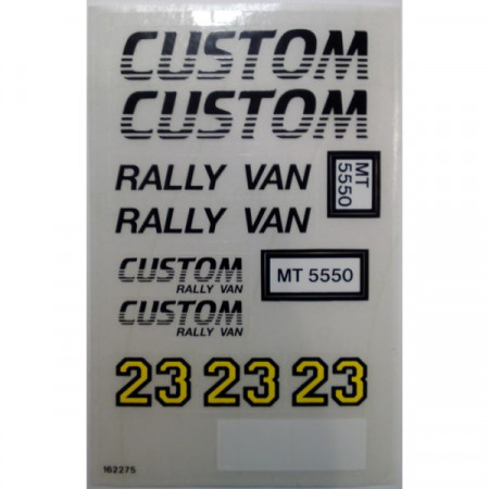 5550stk01 STICKER Custom Rally Van NIEUW loc