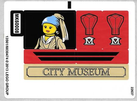 60008stk02 STICKER 61008 Museum Break In VEL 2 NIEUW loc