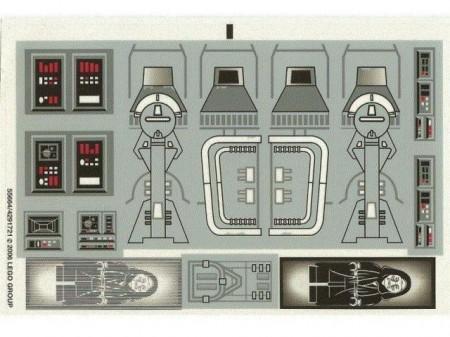 6211stk01 STICKER Star Wars Imperial Star Destroyer NIEUW loc