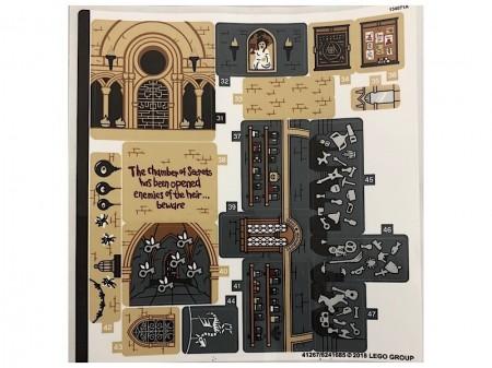 71043stk02 STICKER: Hogwarts Castle sheet 2 NIEUW *0S0000