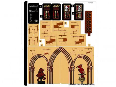75948stk01 STICKER 75953 HARRY POTTER: Hogwarts Clock Tover sticker 1 NIEUW loc