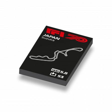 CUS1051 Formule 1 circuit Japan wit NIEUW loc Motorsport