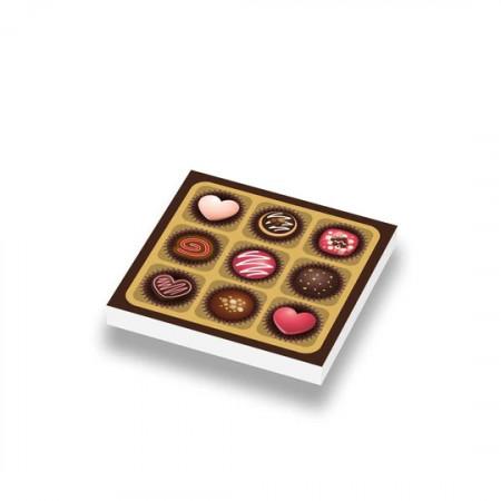 CUSE8173 Valentijn- Bonbons 2x2 Wit *0A000