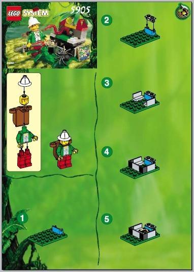 INS5905-G 5905 BOUWBESCHRIJVING- Hidden Treasurer gebruikt *LOC M2