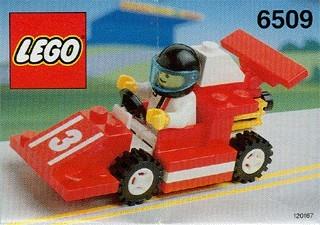 INS6509-G 6509 BOUWBESCHRIJVING- Red Devil Racer gebruikt *LOC M2