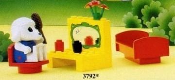 Set 3792-G - Fabuland: Bedroom -/-/100%- gebruikt