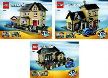 Set 4954 BOUWBESCHRIJVING- Huis (3 boekjes) gebruikt loc LOC M1