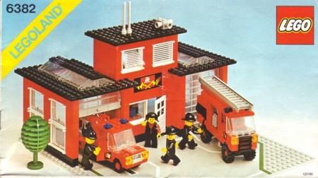 Set 6382 BOUWBESCHRIJVING- Fire Station gebruikt loc LOC M3