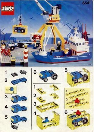 Set 6541 BOUWBESCHRIJVING- Intercoastal Seaport gebruikt loc LOC M2