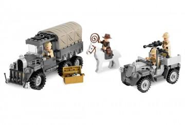 Set 7622 - Indiana Jones: Race of the Stolen Treasure D/H/C 97-100%- gebruikt