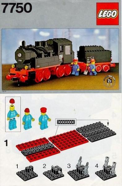 Set 7750 BOUWBESCHRIJVING- Steam Engine PUNCHHOLES EN PLAKBAND Star Wars gebruikt loc