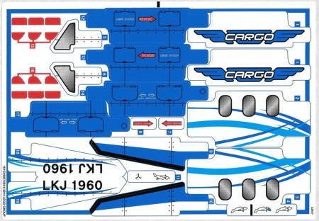 42025stk01 STICKER Cargo plane NIEUW *0S0000