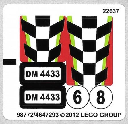 4433stk01 STICKER Dirt Bike transporter NIEUW *0S0000