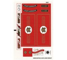4841stk01 STICKER Harry Potter- Hogwarts Express (3e editie) NIEUW loc