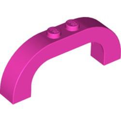 6183-47G Steen, boog180 graden 1x6x2 boven rond roze, donker gebruikt *1L000