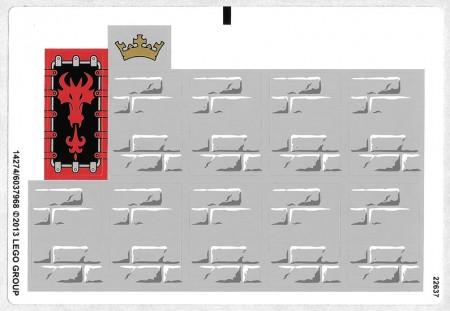 70404stk01 STICKER: 70404 Kings Castle NIEUW loc