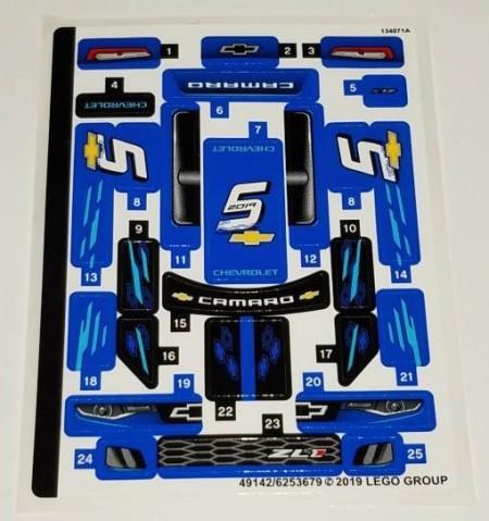 75891stk01 STICKER Chevrolet Camaro sticker 1 NIEUW *0S0000