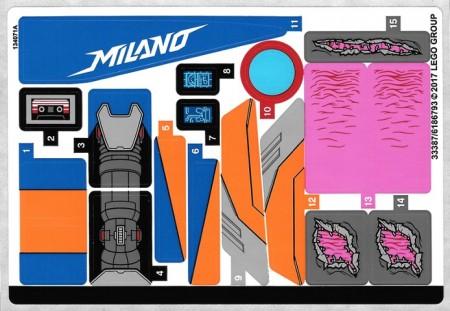 76081stk01 STICKER 76081 Super Heroes The Milano vs The Abelisk NIEUW *0S0000