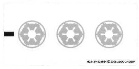 7667stk01 STICKER STAR WARS Imperial Drop Ship NIEUW *0S0000