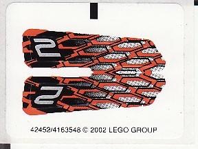 8468stk01 STICKER Power Crusher NIEUW *0S0000