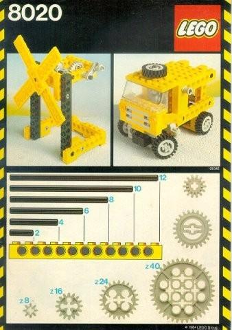 INS8020-G 8020 BOUWBESCHRIJVING- Buildiung Set gebruikt *LOC M4